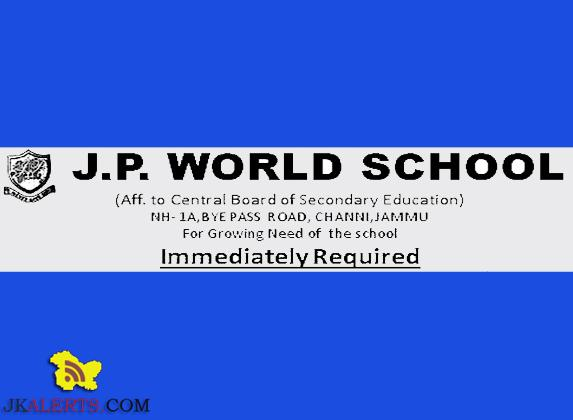 Teaching jobs in J.P World school