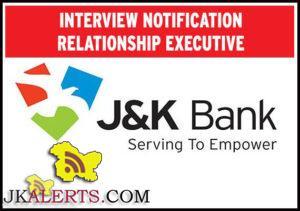 J&K BANK INTERVIEW NOTIFICATION RELATIONSHIP EXECUTIVE Download Admit card