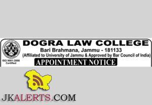 Principal, Lecturer jobs in Dogra law college Bari Brahamana