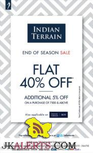 Flat 40% off on Indian Terrain sale