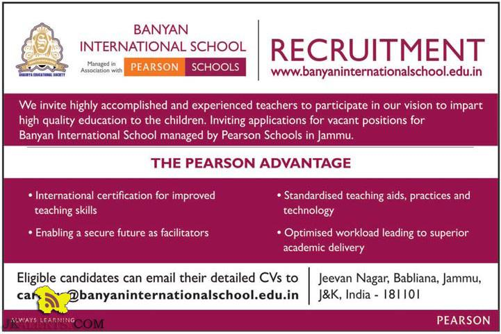 Teaching and Non teaching jobs in Banyan International School, Private jobs