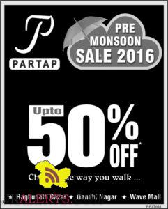 Partap Pre Monsoon Sale on Ladies , Gents, Kids Shoes