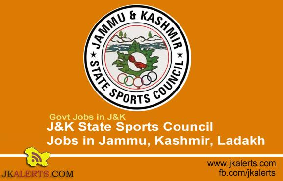 J&K State Sports Council Jobs in Jammu, Kashmir, Ladakh