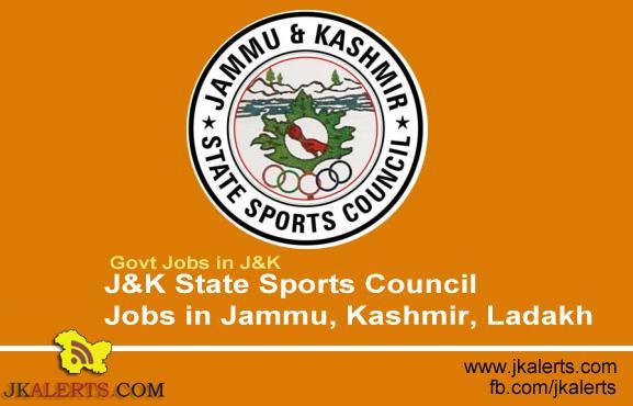 J&K State Sports Council Jobs in Jammu, Kashmir, Ladakh