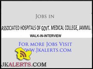 Jobs in Associated Hospitals of Govt Medical College Jammu