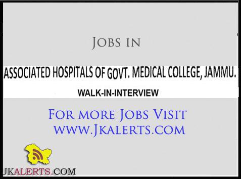 Jobs in Associated Hospitals of Govt Medical College Jammu