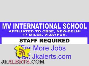 Jobs in MV International School Vijaypur Jammu