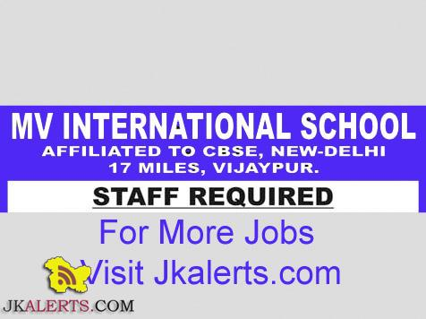 Jobs in MV International School Vijaypur Jammu