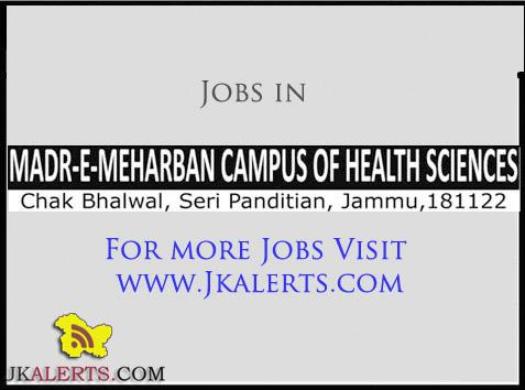 Jobs in Madr-e-Meharban campus of Health Sciences Chak Bhalwal