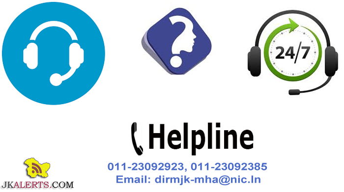 24x7 grievances redressal helpline for JK people, students