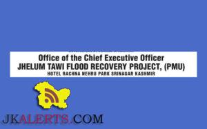 Jhelum & Tawi Flood Recovery Project Jobs Opening