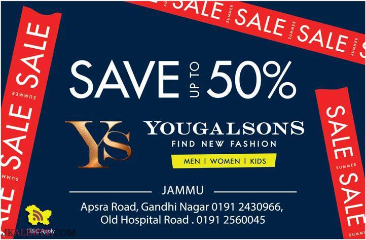 Yougal sons Sale upto 50% off on Men Women Kids