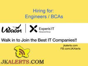 hiring fresh graduates: Engineers / BCAs