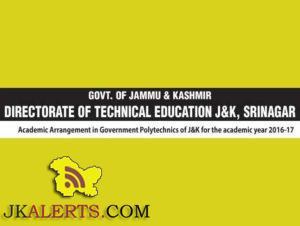Jobs in Government Polytechnics of J&K