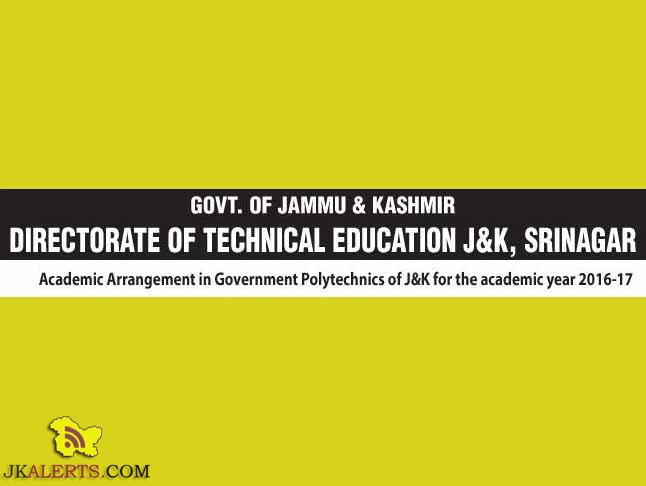 Jobs in Government Polytechnics of J&K