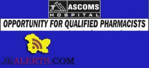 Acharya Shri Chander College of Medical Sciences & Hospital (ASCOMS) Jobs Pharmacists