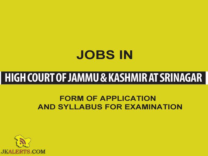 FORM OF APPLICATION FOR APPOINTMENT TO THE POST OF DISTRICT JUDGE AND SYLLABUS FOR EXAMINATION