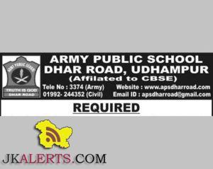 Librarian job in Army Public School Dhar Road, Udhampur