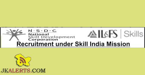 Recruitment under Skill India Mission