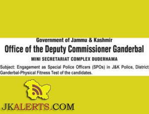 Special Police Officers (SPOs) in J&K Police,Physical Fitness Test District Ganderbal
