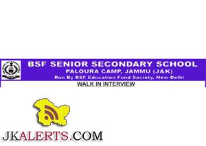 BSF SENIOR SECONDARY SCHOOL JAMMU JOBS