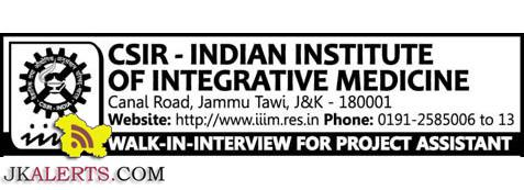 CSIR-INDIAN INSTITUTE OF INTEGRATIVE MEDICINE IIIM JAMMU JOBS