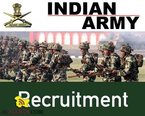 Indian Army Recruitment 2018-19 191 posts