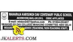 Various, Teaching Jobs,Non Teaching Jobs,Jobs in MHSDAV School, Akhnoor Jobs,Various Teaching and Non Teaching Jobs in MHSDAV School.Various Teaching and Non Teaching Jobs in MHSDAV School.