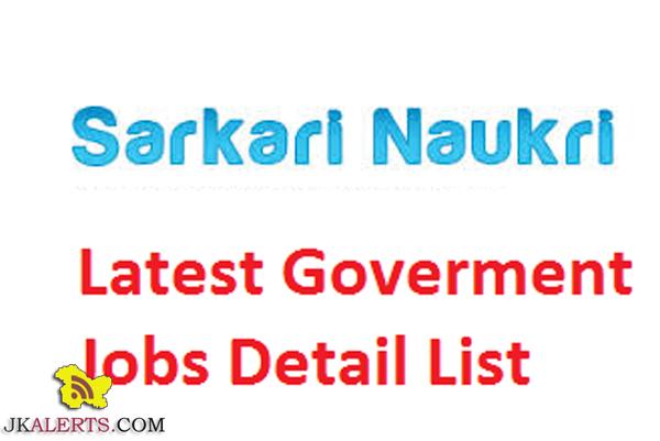 This week latest govt jobs recruitment Jammu and kashmir