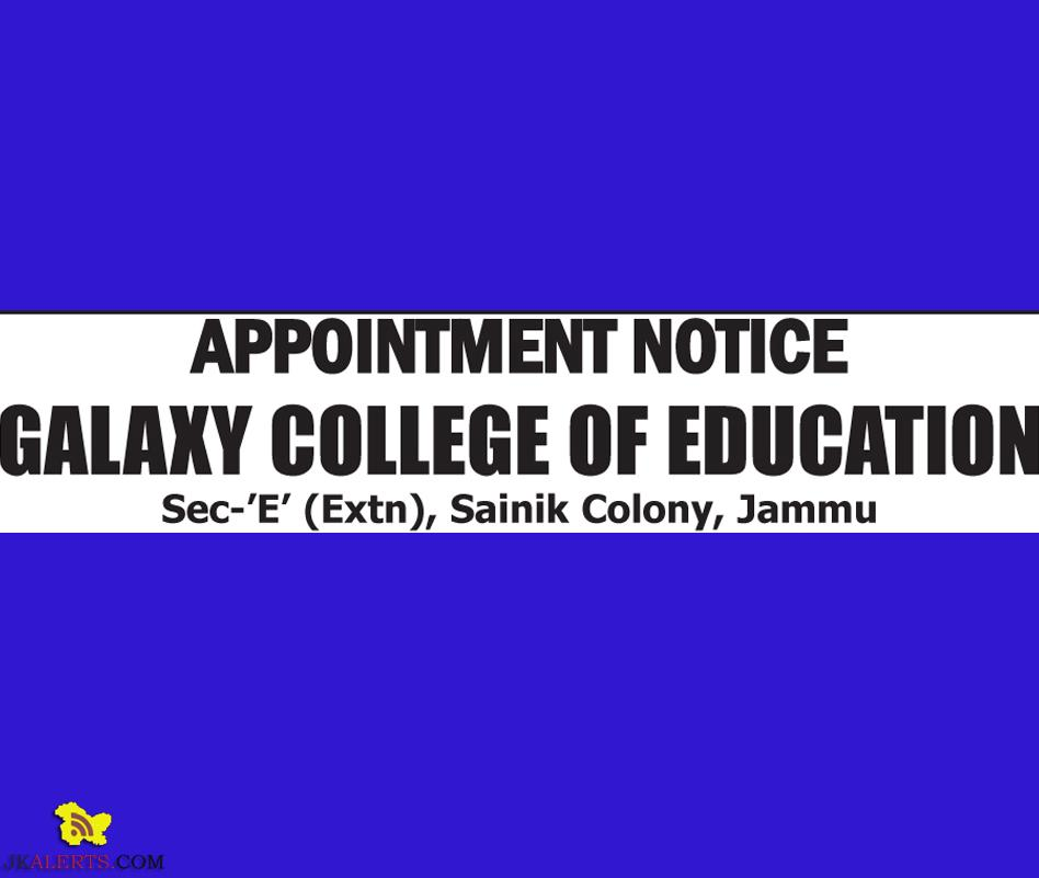 Galaxy college of education jobs jobs