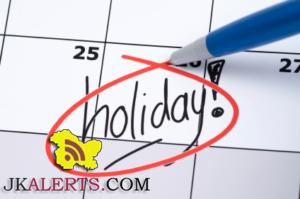 Holiday on account of Guru Nanak Dev's birthday on Nov 14