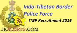 ITBP Inspector GD Recruitment 2016