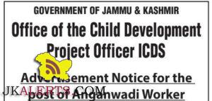 ICDS Anganwadi Worker jobs Srinagar