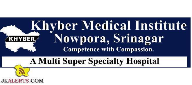 Khyber Medical Institute Nowpora, Srinagar Jobs Notification