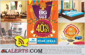 The Big Festival Navratra Sale Flat 40% off Home Ideas