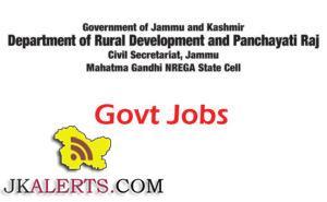 Department of Rural Development and Panchayati Raj Jobs under Mahatma Gandhi NREGA State Cell