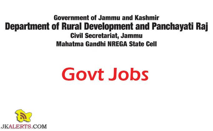Department of Rural Development and Panchayati Raj Jobs under Mahatma Gandhi NREGA State Cell