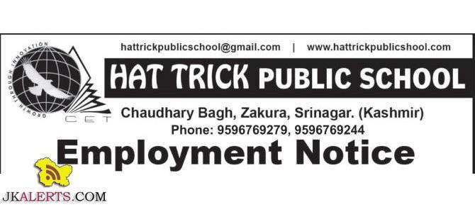 HAT TRICK PUBLIC SCHOOL JOBS