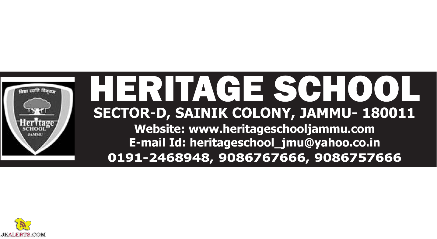 Heritage School Jammu Jobs, Heritage School Jammu Recruitment 2019, Private Jobs, Teaching Jobs, Jammu Jobs, Jobs in Jammu,TGT Jobs, PRT jobs