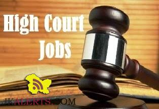 J&K High Court Junior Assistant, Computer Operators interview schedule.
