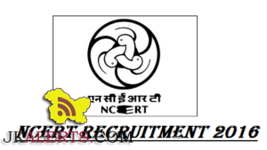 National Council of Educational Research and Training (NCERT) Recruitment 2016