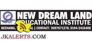 NEW DREAM LAND EDUCATIONAL INSTITUTE JOBS