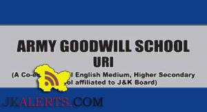 PGT , Library Assistant, PRT Jobs in Army Goodwill School Uri