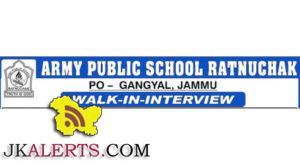 WALK-IN-INTERVIEW ARMY PUBLIC SCHOOL RATNUCHAK