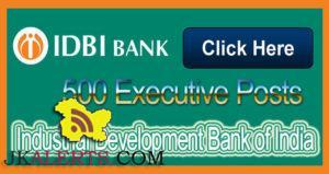 IDBI Bank Recruitment for Executive Posts 500