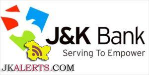 J&k Bank Advisory regarding Deposit / Exchange of Rs 500 and Rs 1000 notes