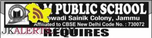 TEACHING AND NONTEACHING JOBS R.M PUBLIC SCHOOL CHOWADI JAMMU