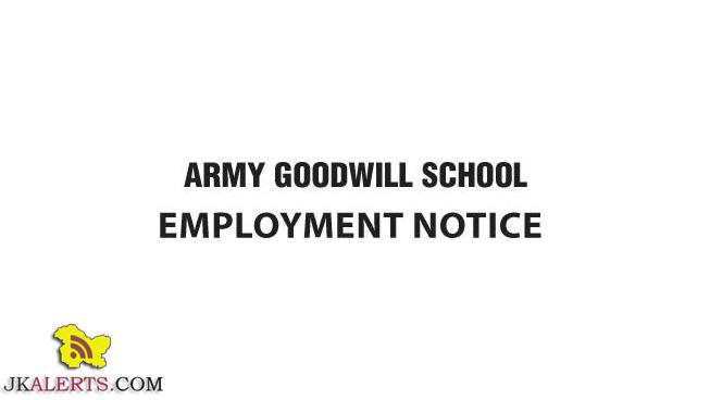 Army Goodwill school jobs Recruitment 2020