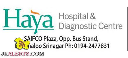 jobs-in-haya-hospital-and-diagnostic-centre-srinagar