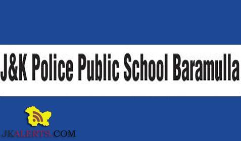 Teaching jobs in J&K Police Public School, J&K PPS Jobs